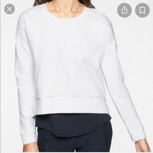 Athleta white modern sweatshirt size xxs